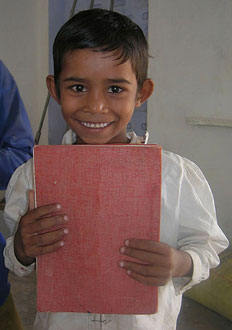 A child at one of the charity's schools